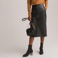 Leather Midi Pencil Skirt