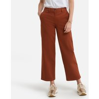 Cropped Wide Leg Trousers in Cotton, Length 26