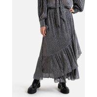 Ruffled Tiered Wrapover Maxi Skirt