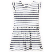 Striped Cotton/Linen Dress with Elasticated Waist, 6 Months-3 Years