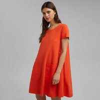 Organic Cotton Mini Dress with Crew Neck and Short Sleeves