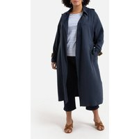 Long Buttoned Trench Coat