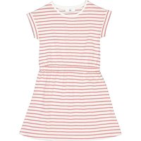 Striped Cotton Mix Dress with Short Sleeves, 3-12 Years