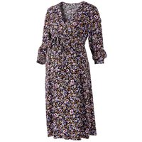 Wrapover Midi Maternity Dress