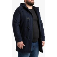 Wool Mix Hooded Duffle Coat with Pockets