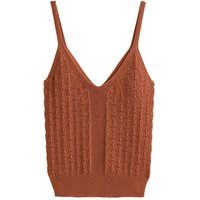 Pointelle Knitted Vest Top