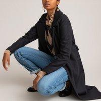 Wool Mix Coat with Tie-Belt