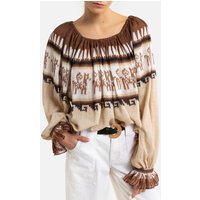 Chico Cotton Bardot Top with Long Sleeves