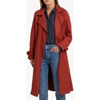 Draping Trench Coat with Belt and Pockets