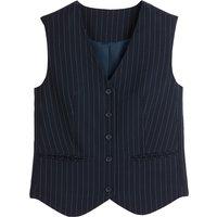 Fitted Tennis Stripe Waistcoat