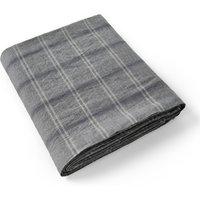 Kenka Checked Linen Flat Sheet