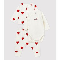 Cotton Cardigan, Bodysuit and Trousers Outfit, 1 Month-12 Months