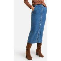 Denim Straight Midaxi Skirt