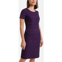 Jacquard Mid-Length Dress with Short Sleeves