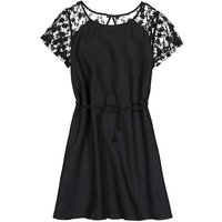 Cotton Lace Dress with Short Sleeves, 10-16 Years