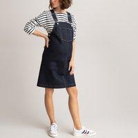 Denim Maternity Dungaree Dress in Organic Cotton