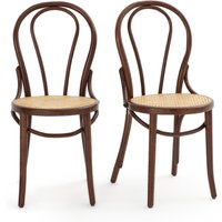 Set of 2 Bistro Cane Seat Chairs