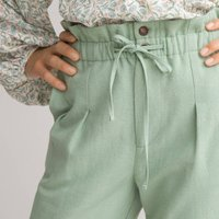 Loose Fit Paperbag Trousers, Length 28