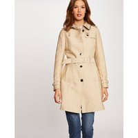 Mid-Length Trench Coat with Tie-Waist