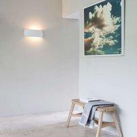 Round Milo plaster wall light  paintable