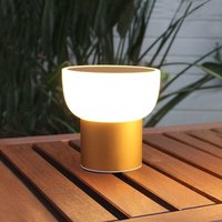 LED outdoor light Patio  gold  16 cm  1 USB port