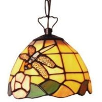 Decorative Tiffany style hanging light LIBELLE