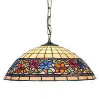 Tiffany style hanging lamp Flora  2 x E27