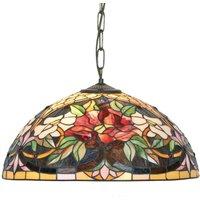 Tiffany style hanging light Ariadne  2 bulb