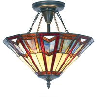 LILLIE Tiffany style ceiling light