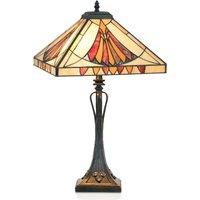 Graceful table lamp AMALIA in the Tiffany style