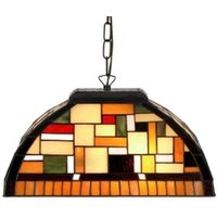 MOSAICO   hanging light in the Tiffany style