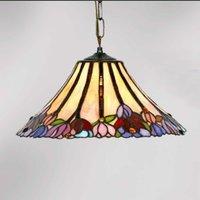 Beautiful Tiffany style hanging light Tori  1 bulb