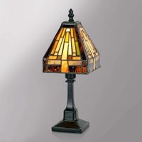 Multi faceted table lamp BEA in the Tiffany style