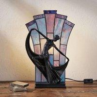 Graceful table lamp Flamina  Tiffany style