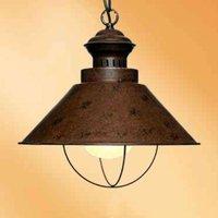 Modest hanging light Harvey in rusty brown