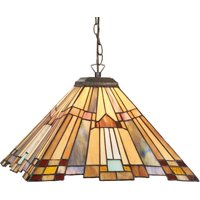 Angular hanging light Esmea in the Tiffany style