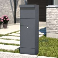 Stand letterbox Parcel anthracite