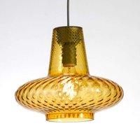 Giulietta   glass hanging light in amber