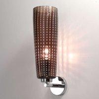 Grey glass lampshade   wall lamp Perle