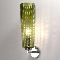 High quality glass wall light Perle in apple green