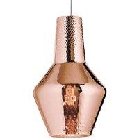 Romeo hanging light 130 cm metallic rose gold