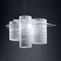 Cylindrical hanging light Brothers  white