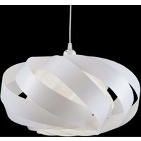 Striped hanging light Mini Nest  white