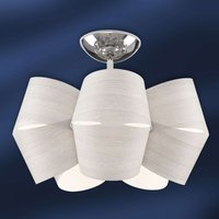Larch wood ceiling light Sky Mini Alien ice grey