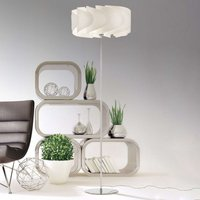 Floor lamp Piantana Ellix in white wood finish