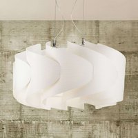 Elegant hanging light Ellix  white wooden finish