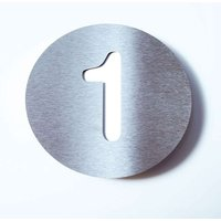 Stainless steel house number Round   1