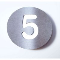 Stainless steel house number Round   5