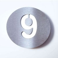 Stainless steel house number Round   9