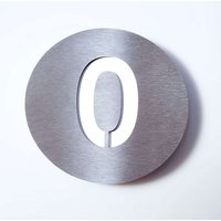 Stainless steel house number Round   0